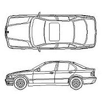 Bloc cad de BMW 320i en dwg