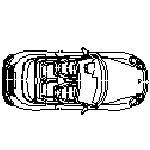 Bloc cad de Porsche Cabrio en dwg