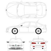Bloc cad de Alfa 159 en dwg
