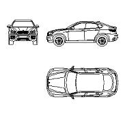 Bloc cad de BMW X6 en dwg