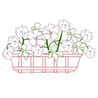 Bloc cad de Élévation pot de fleurs en dwg