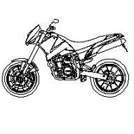 Bloc cad de KTM motocyclette en dwg