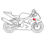 Bloc cad de Suzuki 600 GSXR en dwg
