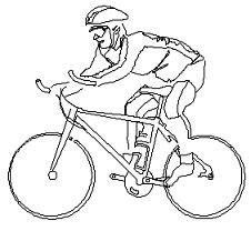 Bloc cad de Homme cycliste en dwg