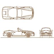 Bloc cad de BMW Z3 en dwg