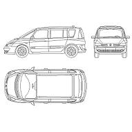 Bloc cad de Renault Espace en dwg