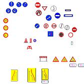 Bloc cad de Signalisation routière en dwg